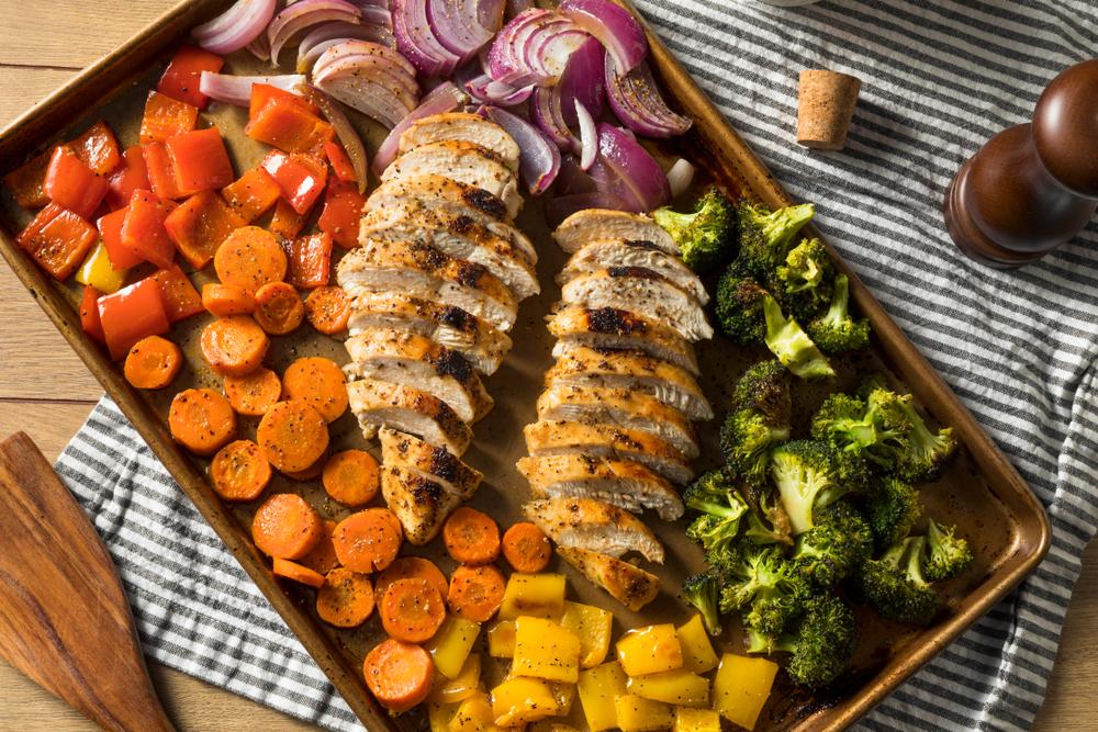 keto sheet pan chicken & veggies