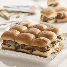 Meatball Pesto Sliders
