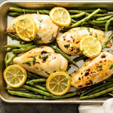 Sheet Pan Lemon Chicken & Green Beans