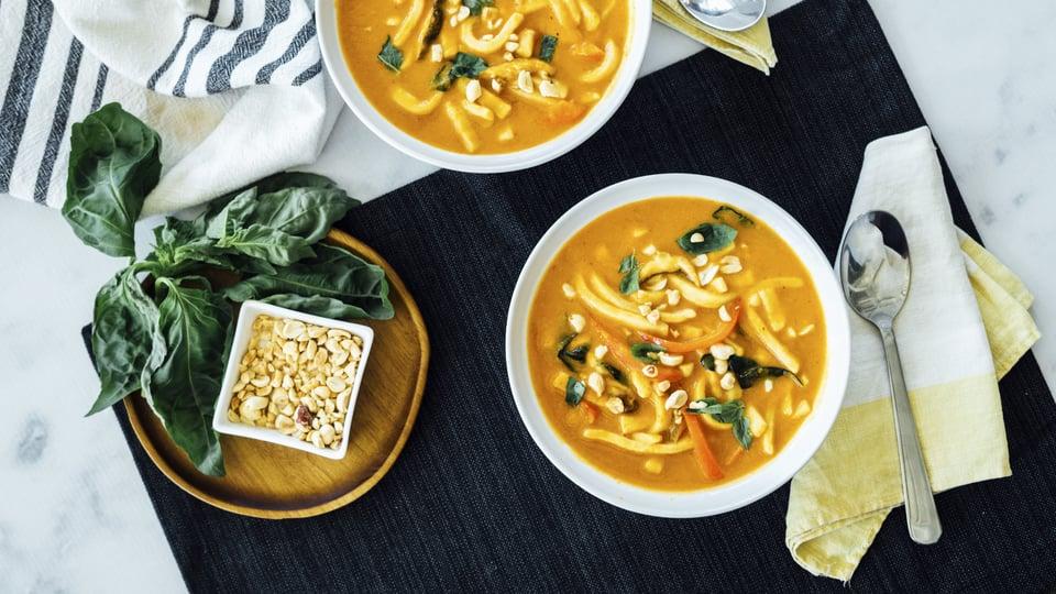 Thai Curry Pumpkin Noodle Soup