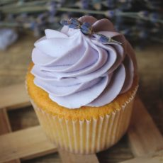 Classic Creme Cupcakes WLavender Butter Cream