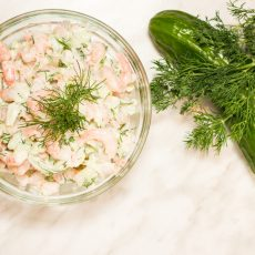 CreamyAvocado Shrimp Salad