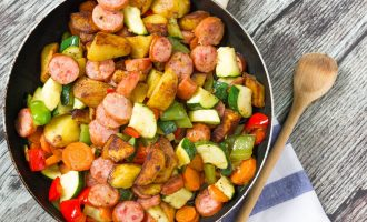 20 Minute Sausage and Vegetables