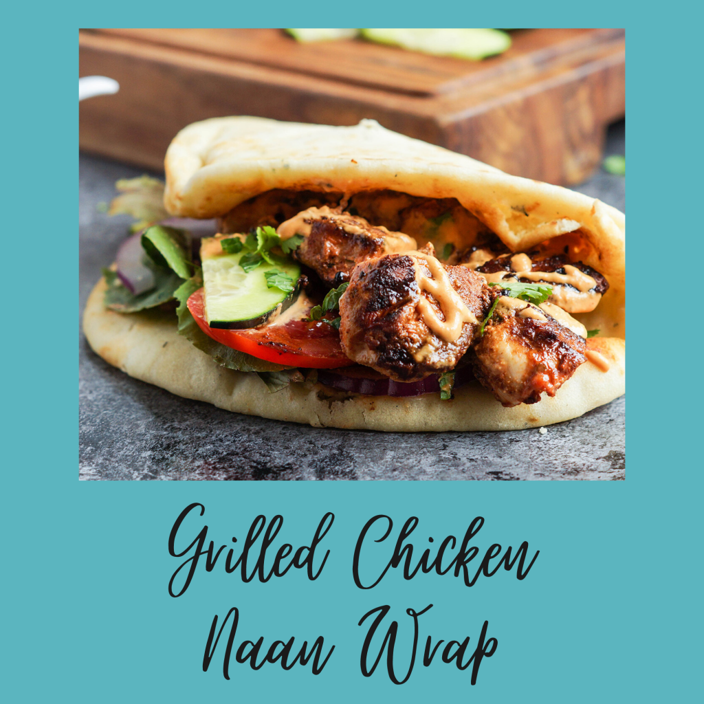 Grilled Chicken Naan Wrap