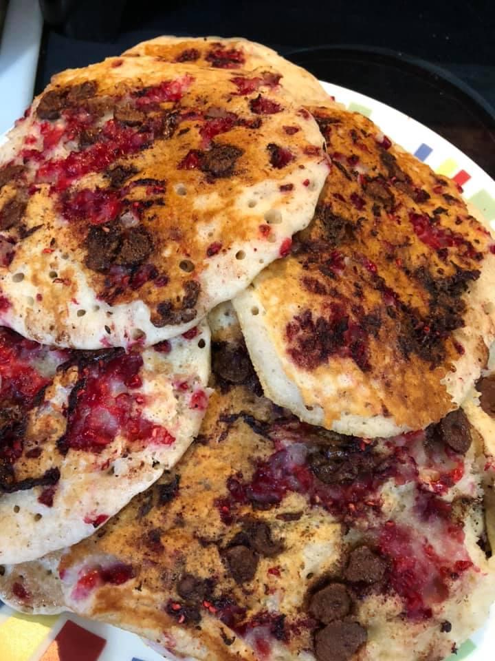 Jamie's Raspberry Chocolate Pancakes
