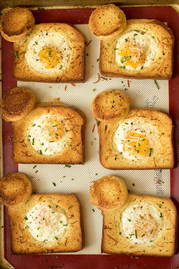 Sheet Pan Cyclops Toast