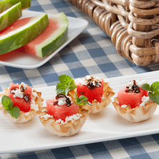 Watermelon & Feta Phyllo Cups