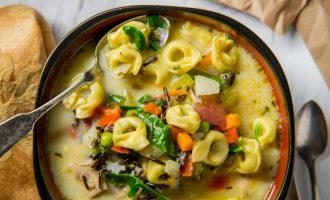 Creamy Tortellini Wild Rice Soup