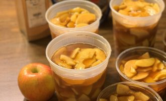 Easy Freezer Apple Pie Filling
