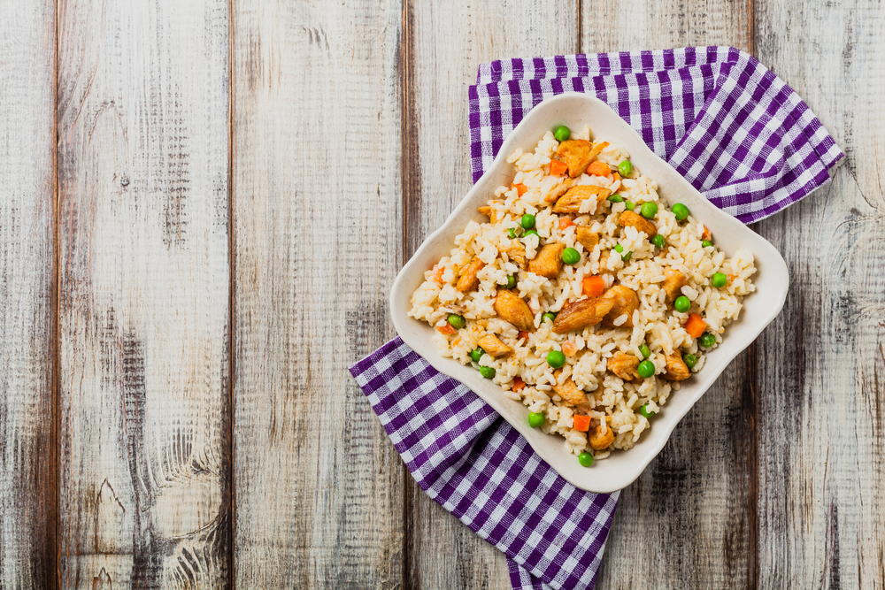 Risotto W/Peas, Carrots, & Chicken