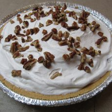 Peach Pecan & Amaretto Cream Pie