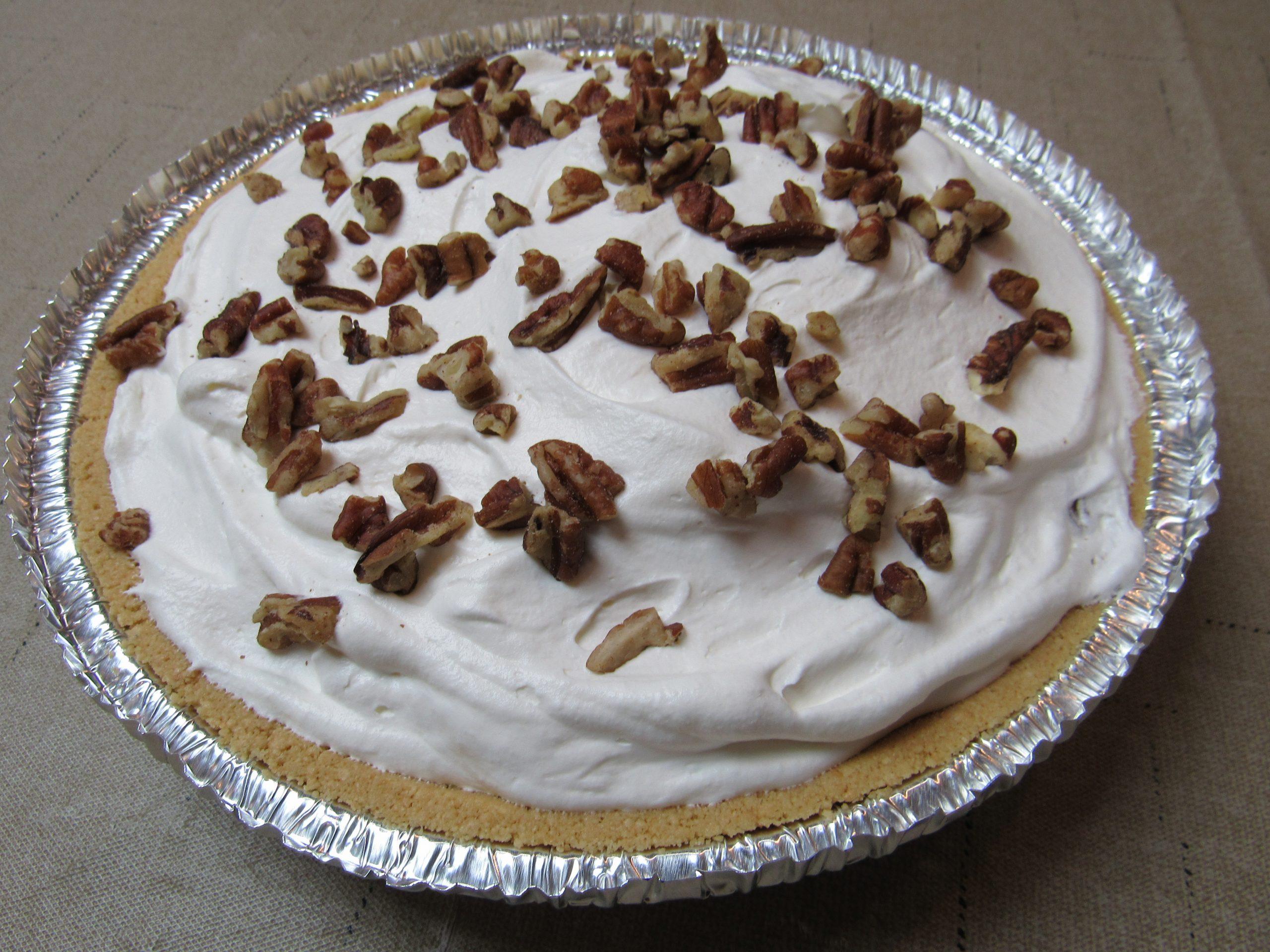 Peach Pecan & Amaretto Cream Pie