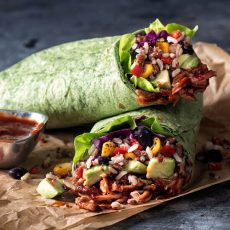 Exotic Grains & Fire Roasted Vegetable Chicken Wrap