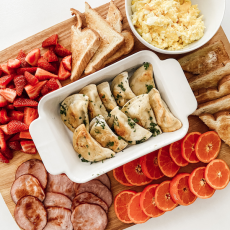 Breakfast Pierogies Platter