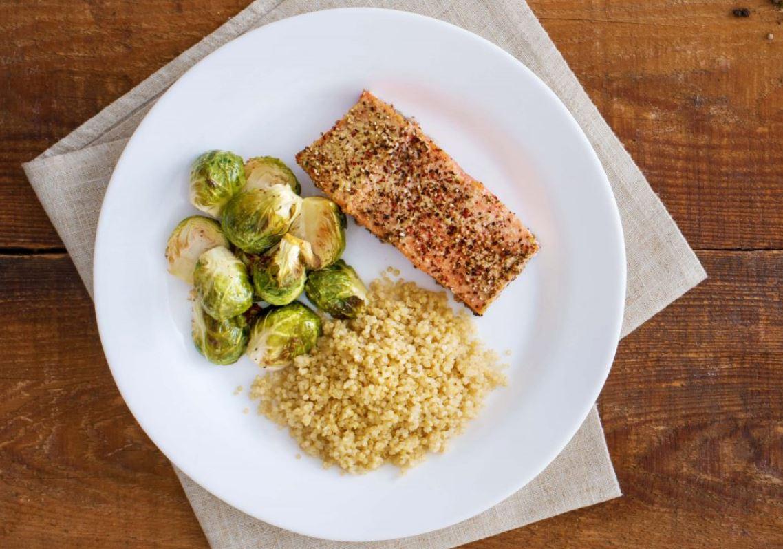 Peppercorn-Crusted Salmon