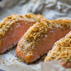 Garlic Parmesan Crusted Salmon