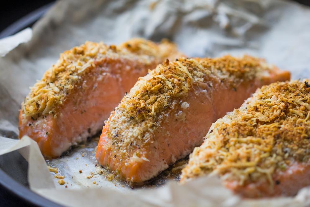 Garlic Parmesan Crusted Salmon