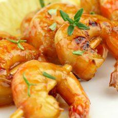 Honey Glazed Shrimp Skewers