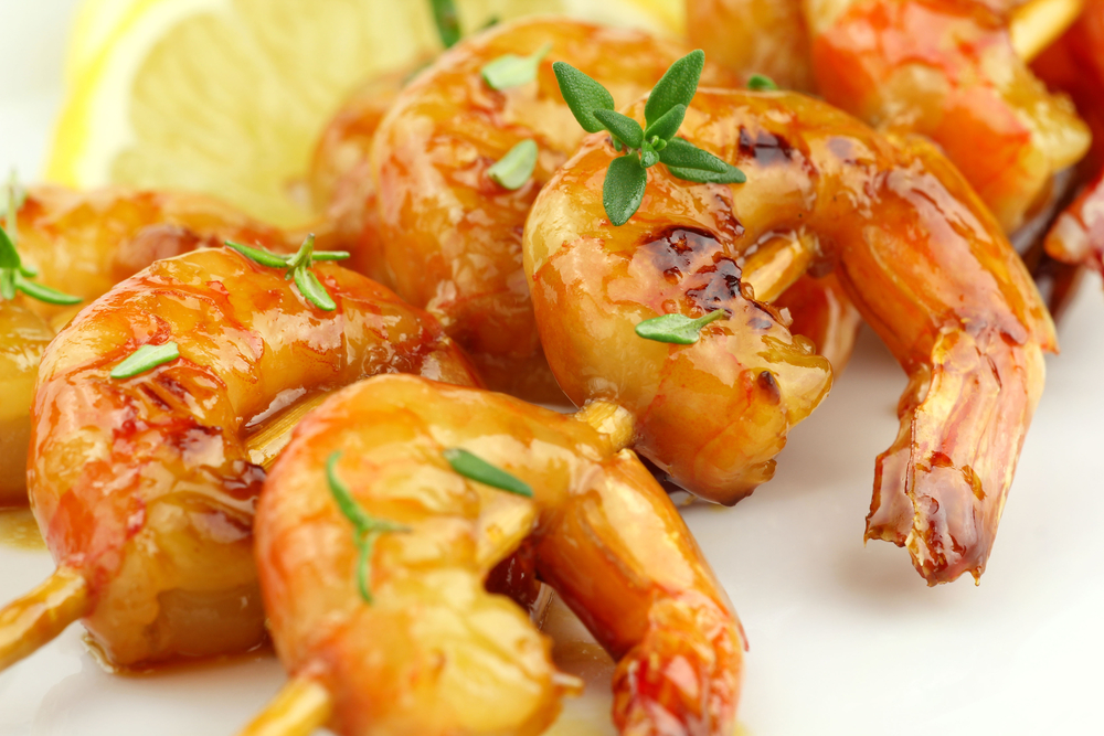 Honey Glazed Shrimp Skewers