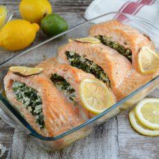 Keto Creamy Spinach Stuffed Salmon