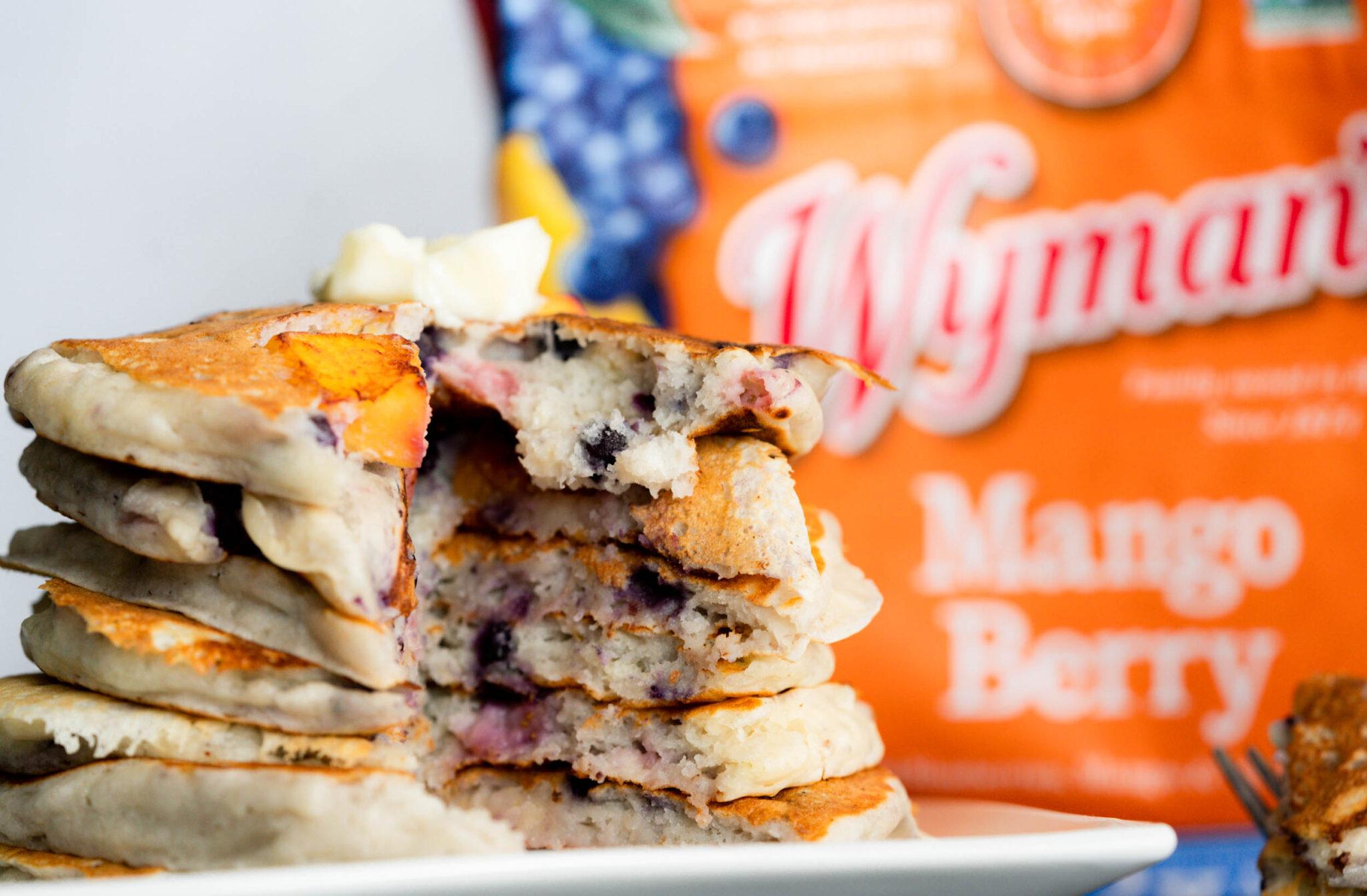 Mango Berry Pancakes