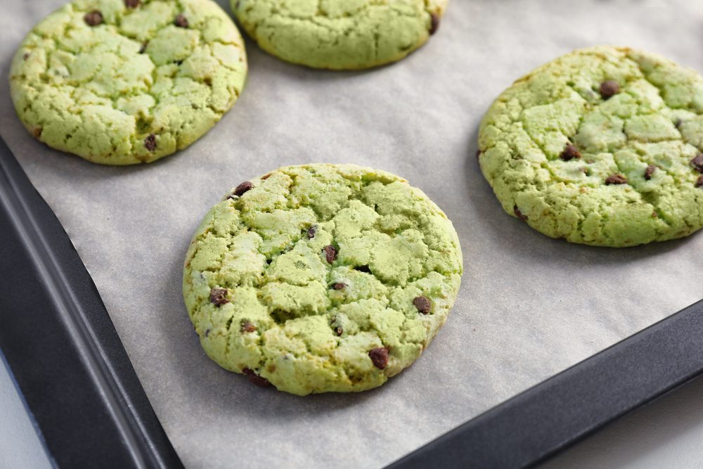 Mint Chip Pudding Cookies
