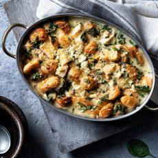 Parmesan Potato & Spinach Florentine