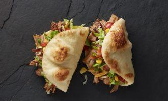 Mini Naan Folded Tacos