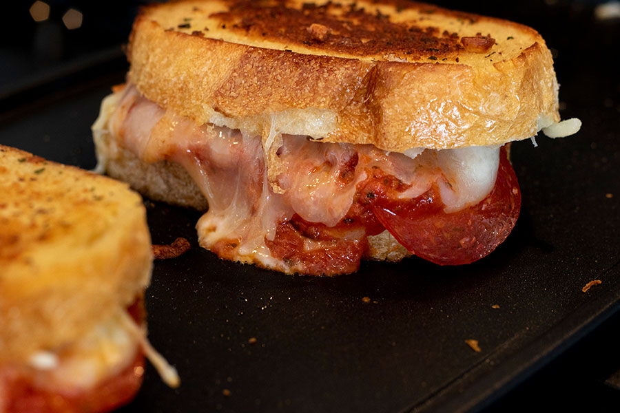 chef shamy pizza grilled cheese