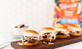 Crock Pot Tropical BBQ Chicken Sliders