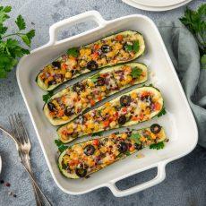 Tex Mex Stuffed Zucchini