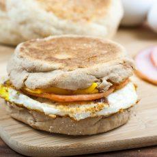 English Muffin Breakfast Sandwich